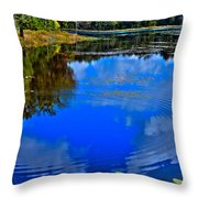 Ripples On Fly Pond - Old Forge New York Throw Pillow by David Patterson