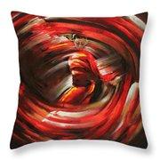 Rising Sun Throw Pillow by Karina Llergo