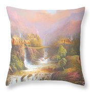 Rivendell A Hobbits Tale. The Red Book Throw Pillow by Joe  Gilronan