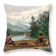 River Hunting Throw Pillow by Gary Grayson