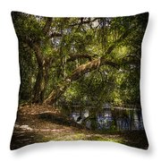 River Oak Throw Pillow by Marvin Spates