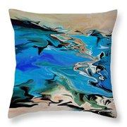 River Of Dreams Throw Pillow by Indira Mukherji