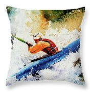 River Rush Throw Pillow by Hanne Lore Koehler