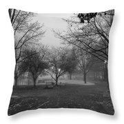 Riverfront Park Of Spokane Throw Pillow by Daniel Hagerman