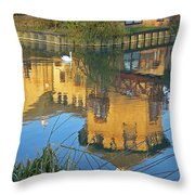 Riverside Homes Reflections Throw Pillow by Gill Billington