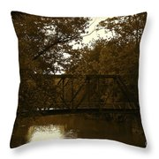 Riveting Bridge Throw Pillow by Customikes Fun Photography and Film Aka K Mikael Wallin