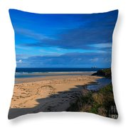 Riviere Sands Cornwall Throw Pillow by Louise Heusinkveld