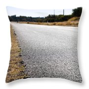 Road Edge Throw Pillow by Tim Hester