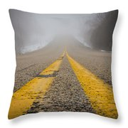 Road To Nowhere Throw Pillow by Bill Pevlor
