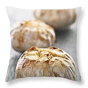 Roasted Garlic Bulbs Throw Pillow by Elena Elisseeva