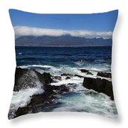 Robben Island View Throw Pillow by Aidan Moran