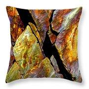 Rock Art 17 Throw Pillow by Bill Caldwell -        ABeautifulSky Photography