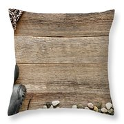 Rock Climbing Background Throw Pillow by Olivier Le Queinec