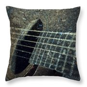 Rock Guitar Throw Pillow by Photographic Arts And Design Studio