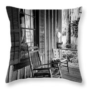 Rocker On The Veranda Throw Pillow by Lynn Palmer