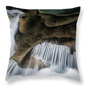 Rocks In Paradise Throw Pillow by Inge Johnsson