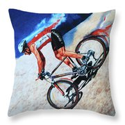 Rocky Mountain High Throw Pillow by Hanne Lore Koehler