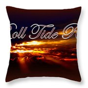 Roll Tide Roll w Red Border - Alabama Throw Pillow by Travis Truelove