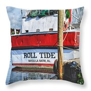 Roll Tide Stern Throw Pillow by Michael Thomas