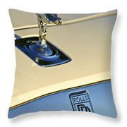 Rolls-royce Hood Ornament 3 Throw Pillow by Jill Reger