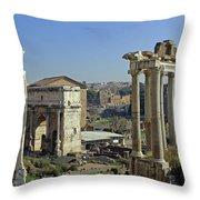 Roman Forum  Throw Pillow by Tony Murtagh