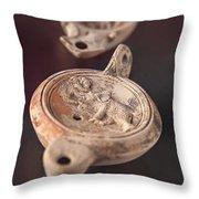 Roman Oil Lamp Throw Pillow by Sophie McAulay