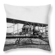 Romance Of Flight C. 1905 Throw Pillow by Daniel Hagerman