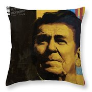Ronald Reagan Throw Pillow by Corporate Art Task Force