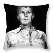 Ronald Regan Throw Pillow by Peter Piatt