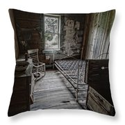 Room At The Wells Hotel - Montana Throw Pillow by Daniel Hagerman