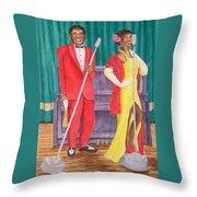 Roosevelt And Lola Throw Pillow by Rhonda Leonard