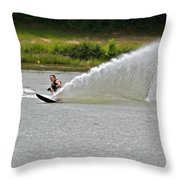Rooster Tail Throw Pillow by Susan Leggett