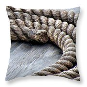 Rope Throw Pillow by Janice Drew