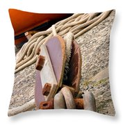 Ropes And Chains Throw Pillow by Terri  Waters