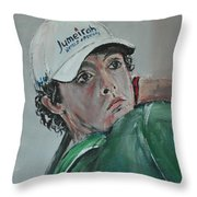 Rory Mcilroy Throw Pillow by John Halliday