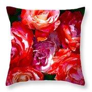 Rose 124 Throw Pillow by Pamela Cooper