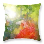 Rose 190 Throw Pillow by Pamela Cooper