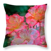 Rose 203 Throw Pillow by Pamela Cooper
