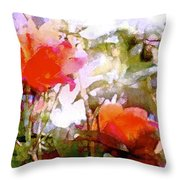 Rose 204 Throw Pillow by Pamela Cooper