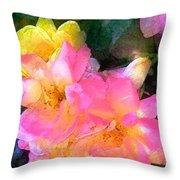 Rose 211 Throw Pillow by Pamela Cooper