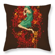 Roses Are Red But Why You Look So Blue Throw Pillow by Nava Seas