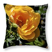 Roses Have Thorns Throw Pillow by Janice Rae Pariza