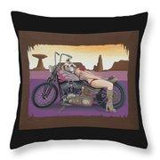 Rosie The Pitbull Pinup Throw Pillow by Stuart Swartz