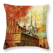 Roskilde Cathedral Throw Pillow by Catf