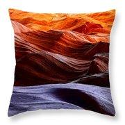 Rough Sea Throw Pillow by Inge Johnsson