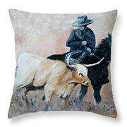 Roundup Throw Pillow by Isabella Abbie Shores