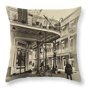 Rouses Market Sepia Throw Pillow by Steve Harrington