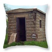 Route 66 - Texola Jail Throw Pillow by Frank Romeo