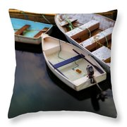 Rowboats Throw Pillow by Diane Diederich