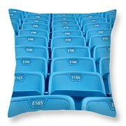 Rows Of Emtpy Seats Throw Pillow by Yali Shi